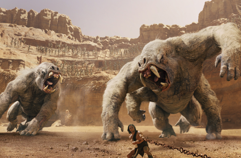 John Carter (Taylor Kitsch) fights the white apes